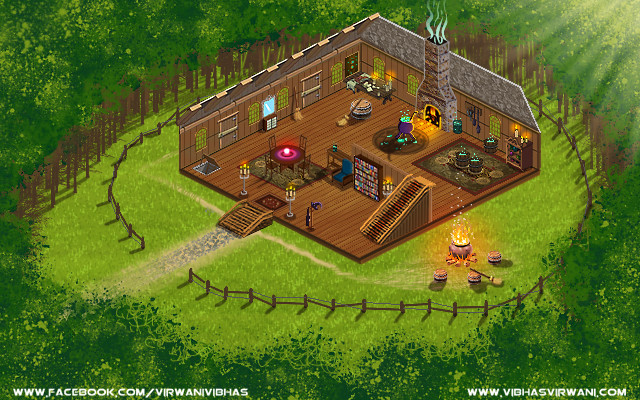 Vibhas virwani 2d photoshop isometric background test piece by vibhas virwani