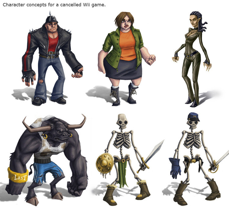 Urban Fantasy Title - Character Designs