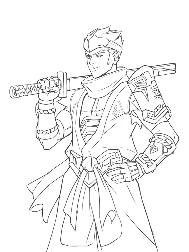 Overwatch free coloring pages for Overwatch coloring pages