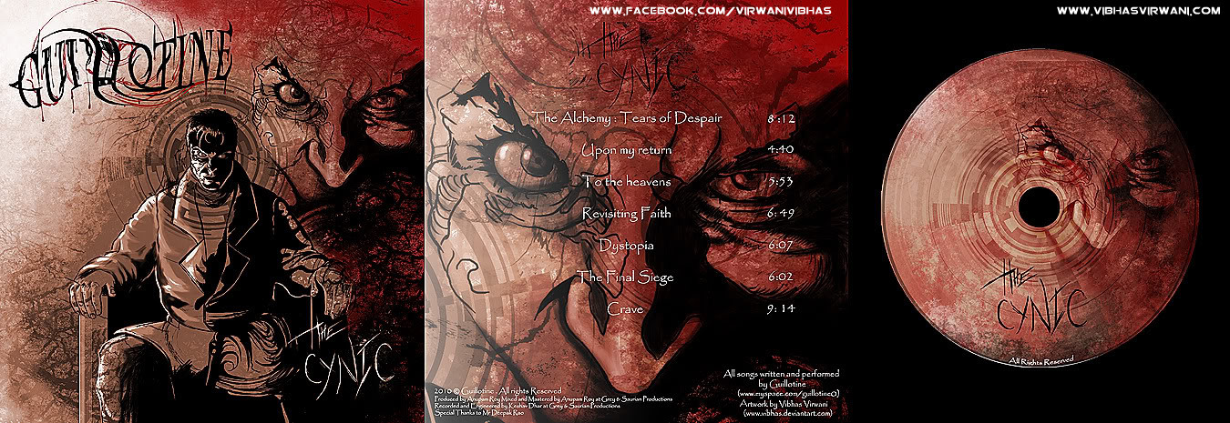 Vibhas virwani music cd album cover the cynic by guillotine photoshop art by vibhas virwani 1