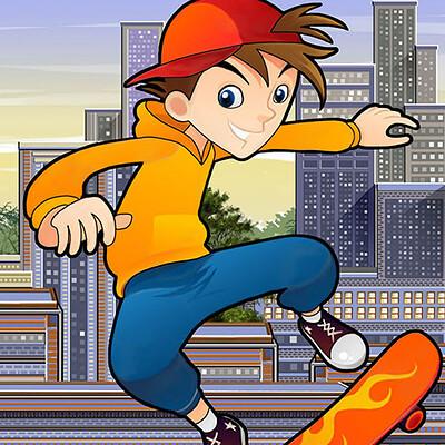 Vibhas virwani rooftop skater dude extreme street roller mx skills rivals cover vibhas virwani