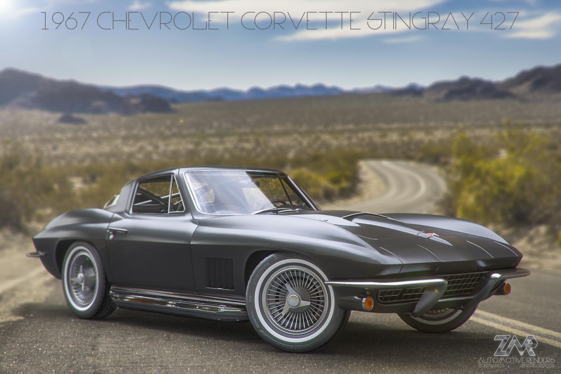Matte 1967 Chevrolet Corvette Stingray 427 Zoki Nanco Nancorocks Rgb