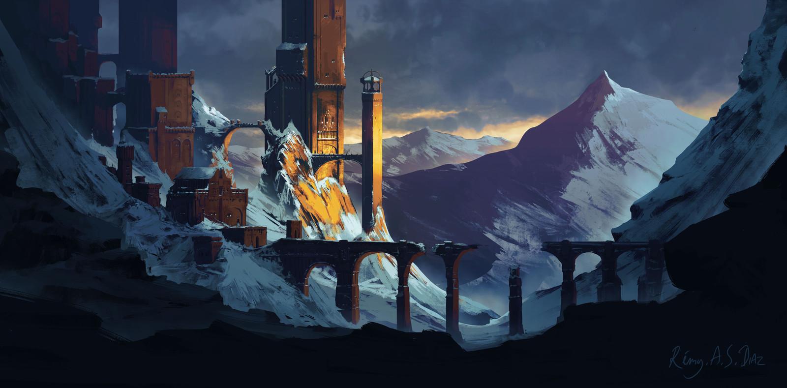 Fantasy Castle in Snow