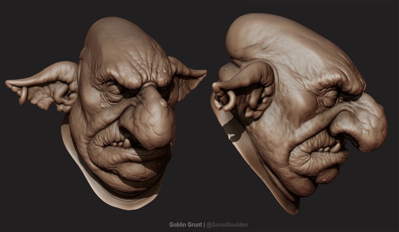 Detailing the sculpt and ready to be baked down