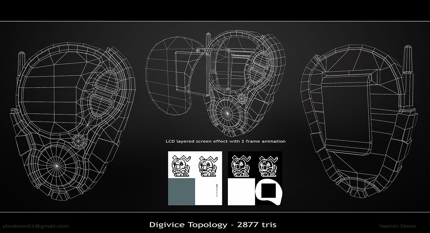 ArtStation - Digimon - D3 Digivice, Yasmin Down