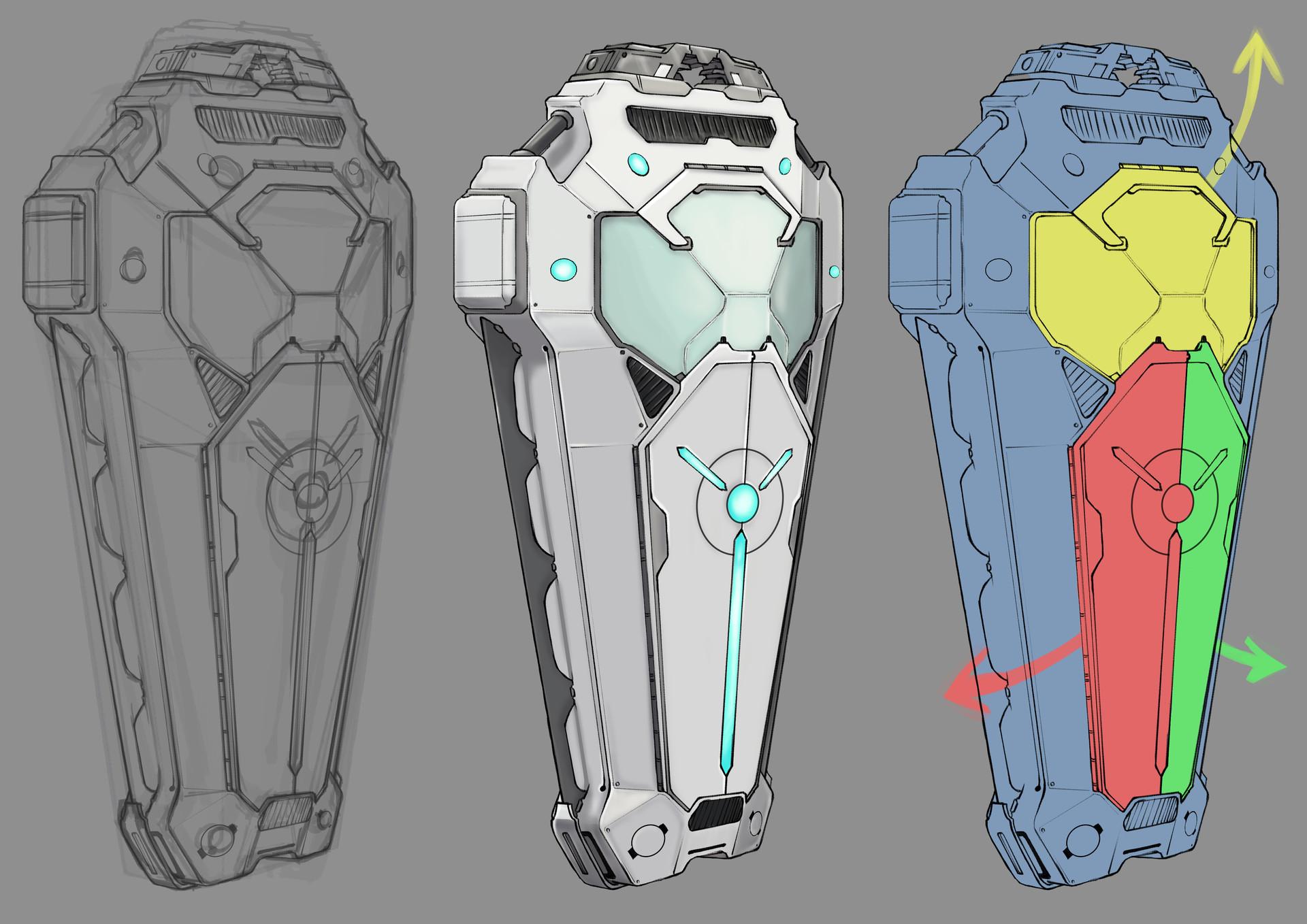 Romain Defélix - Soul Transfer Module - Concept for PROJET VISION