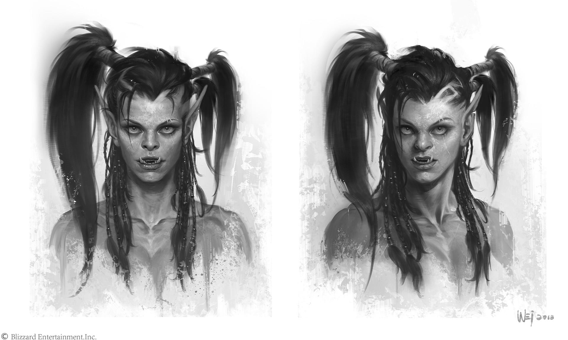 Wei Wang The Art Of Warcraft Film Garona
