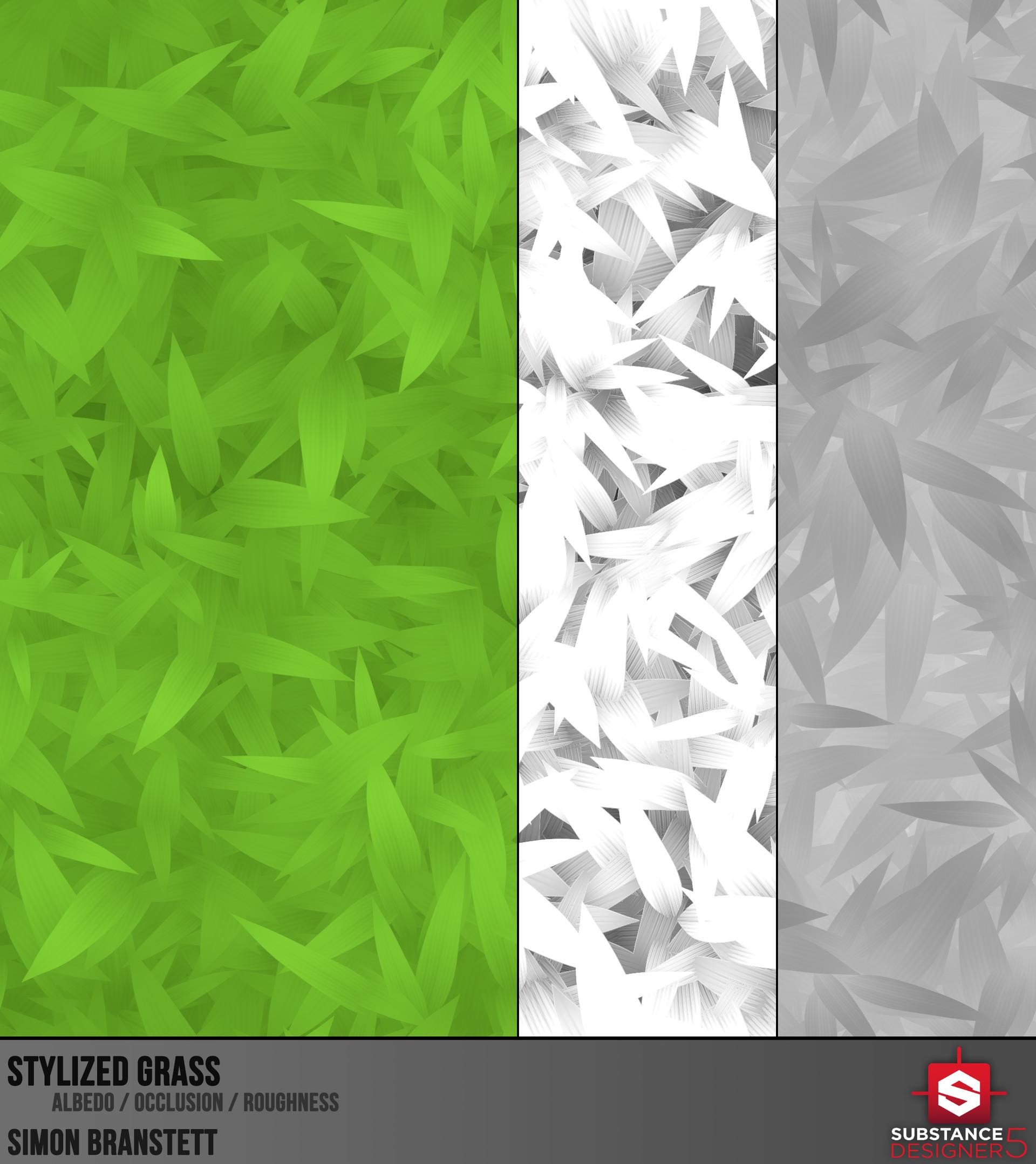 ArtStation - Stylized Grass, Simon Branstett