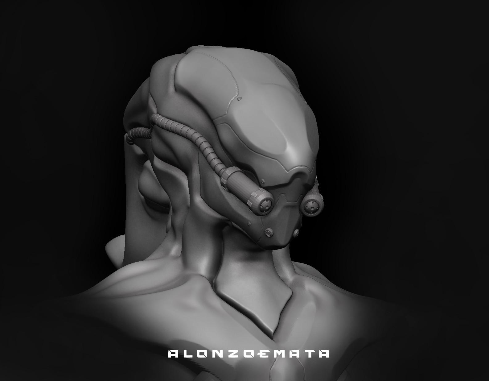 Alonzo emata xeno helmet