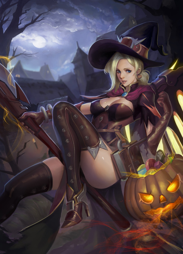 ArtStation - Halloween Mercy , Zoma Phamoz