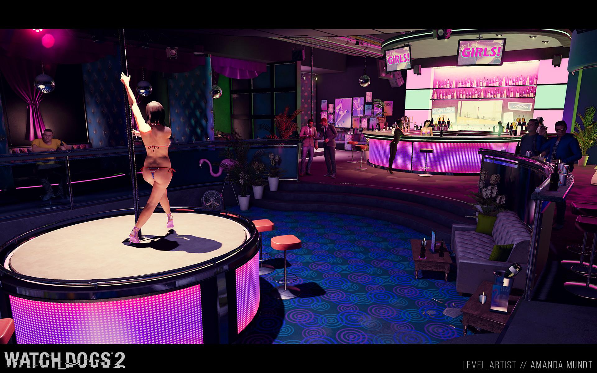 Amanda Mundt Watch Dogs 2 Bar Interiors