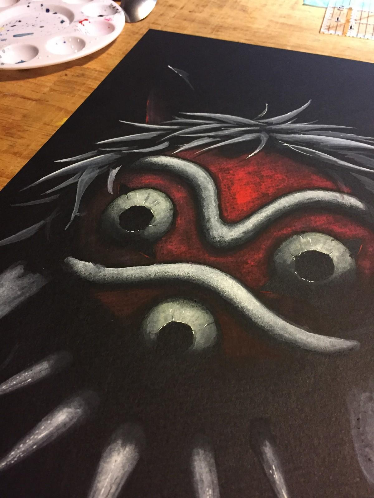 Princess Mononoke mask fan art.