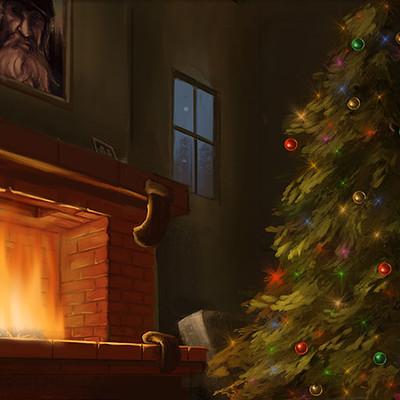 Casey weeks christmas fireplaceweb