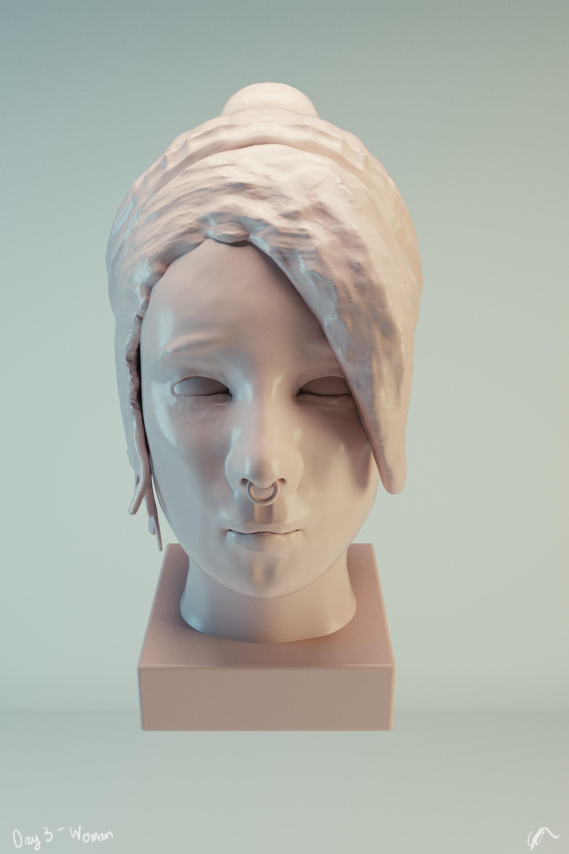 #SculptJanuary Day 3 - Woman