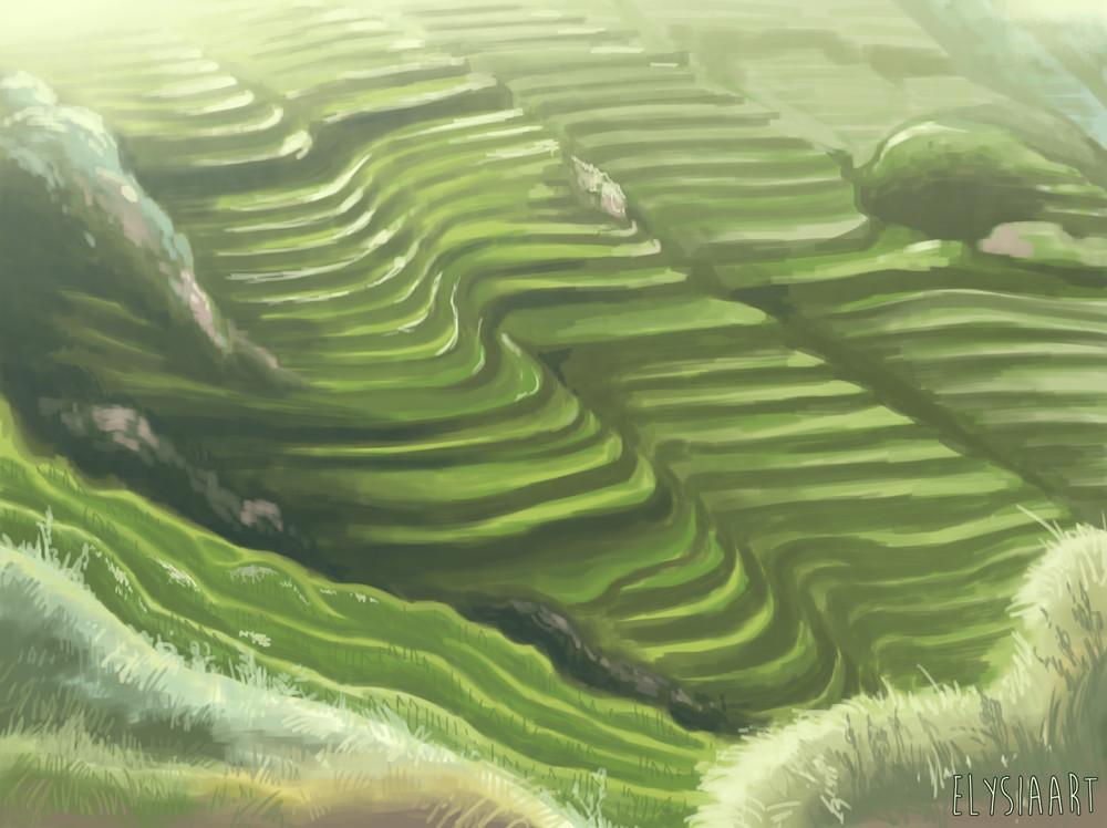 Painting from Tiantouzhai, China.