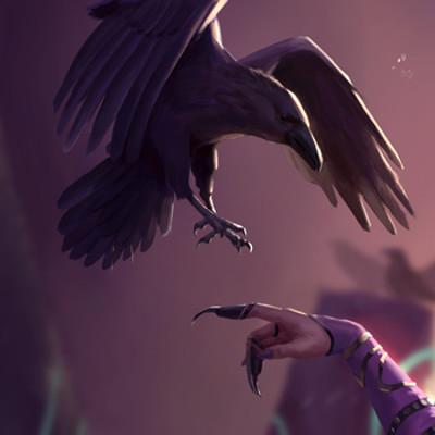 Devin platts scarlet sorceress morrigan card