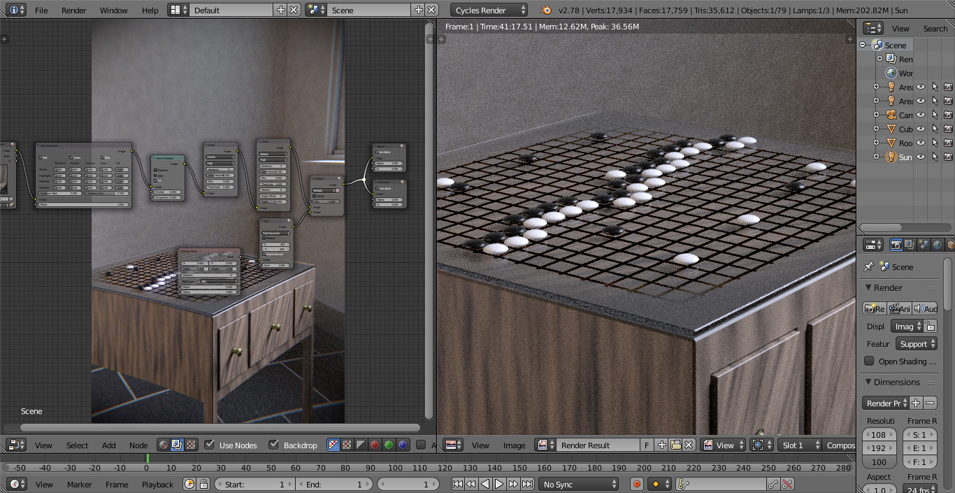 compositing screen