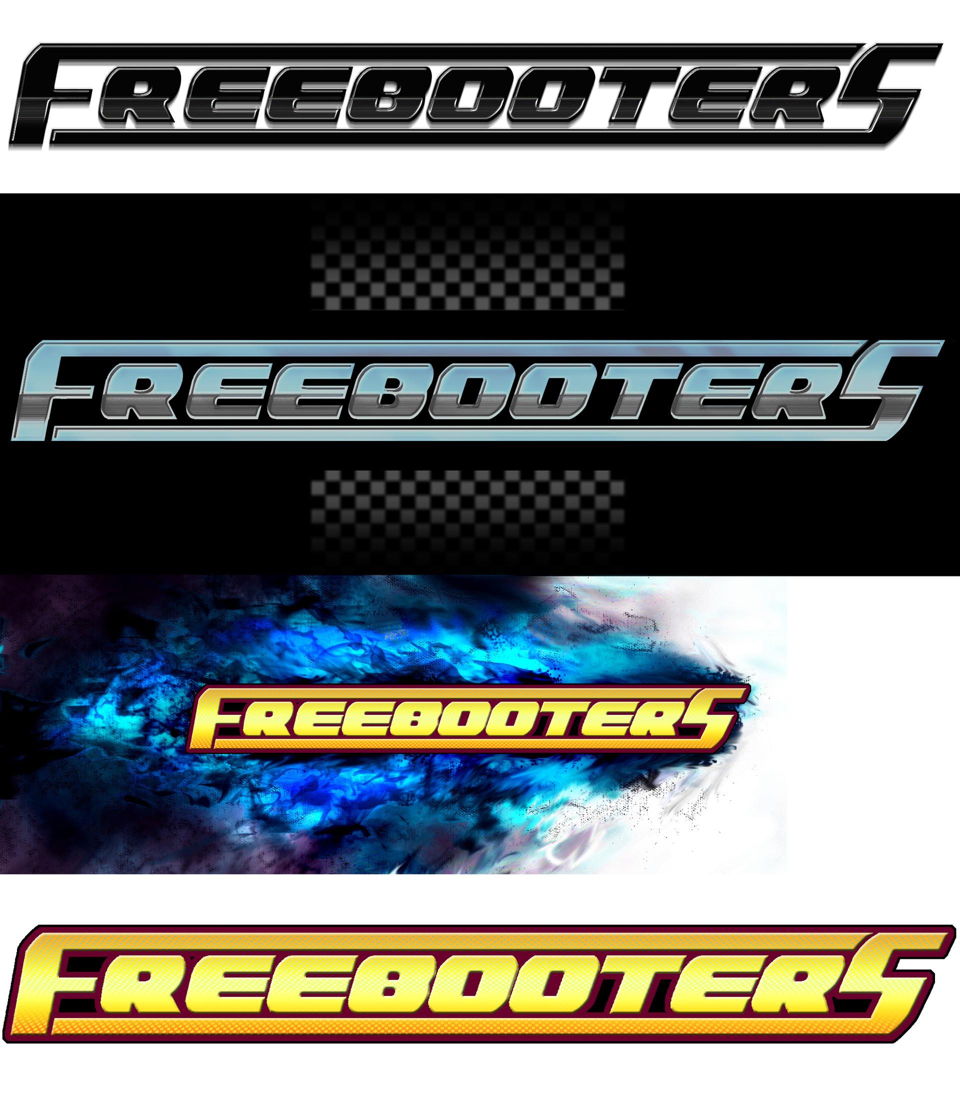 Michael jenkins freebooter logo variatons