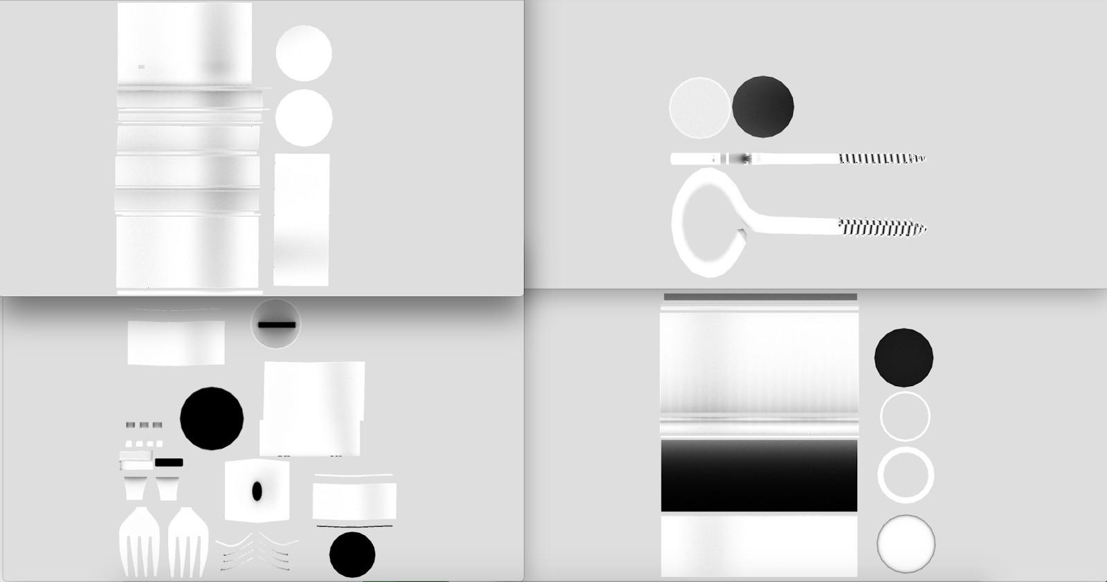 objects UV render