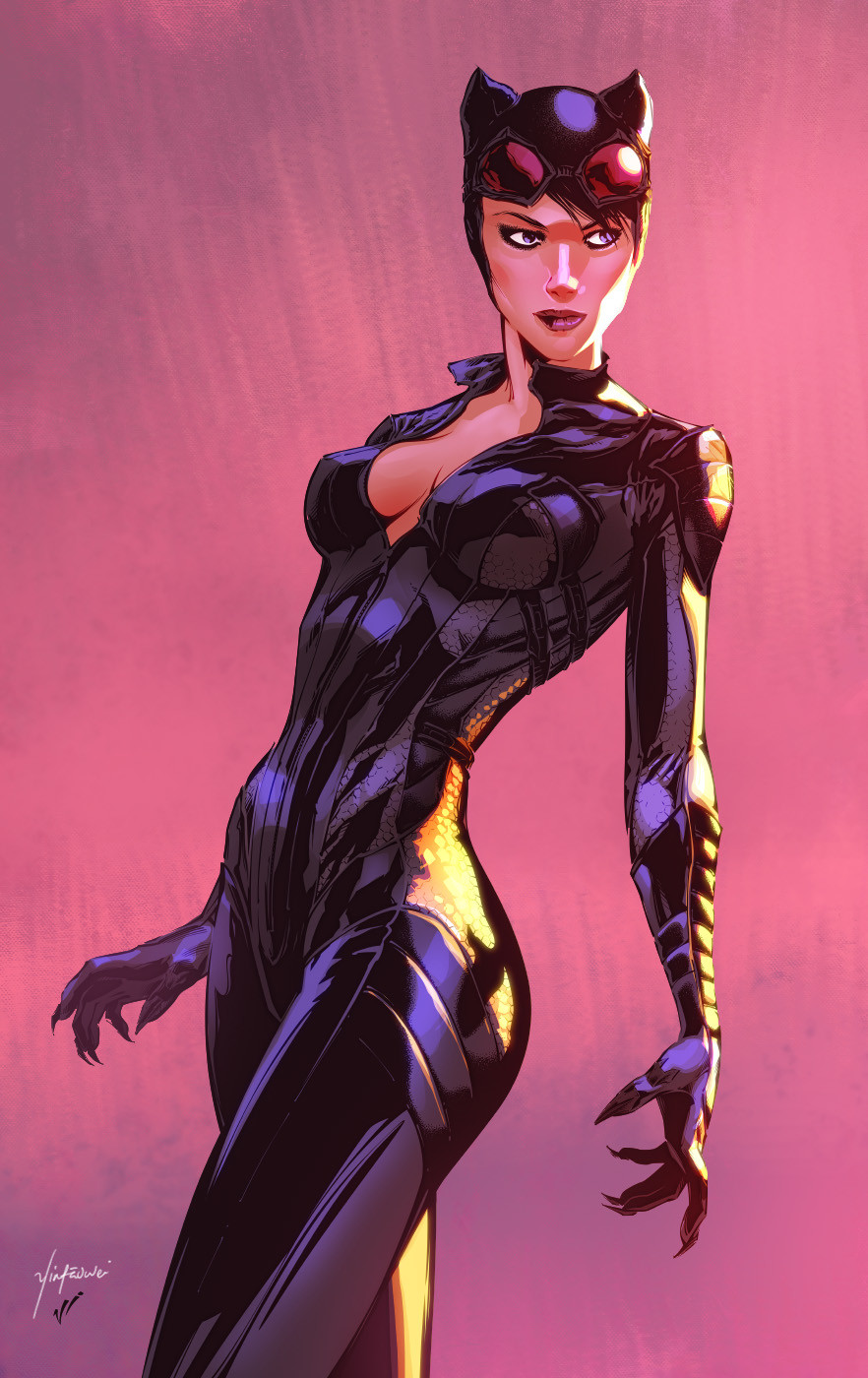 Harrison yinfaowei arkham knight catwoman by vitali iakovlev yinfaowei