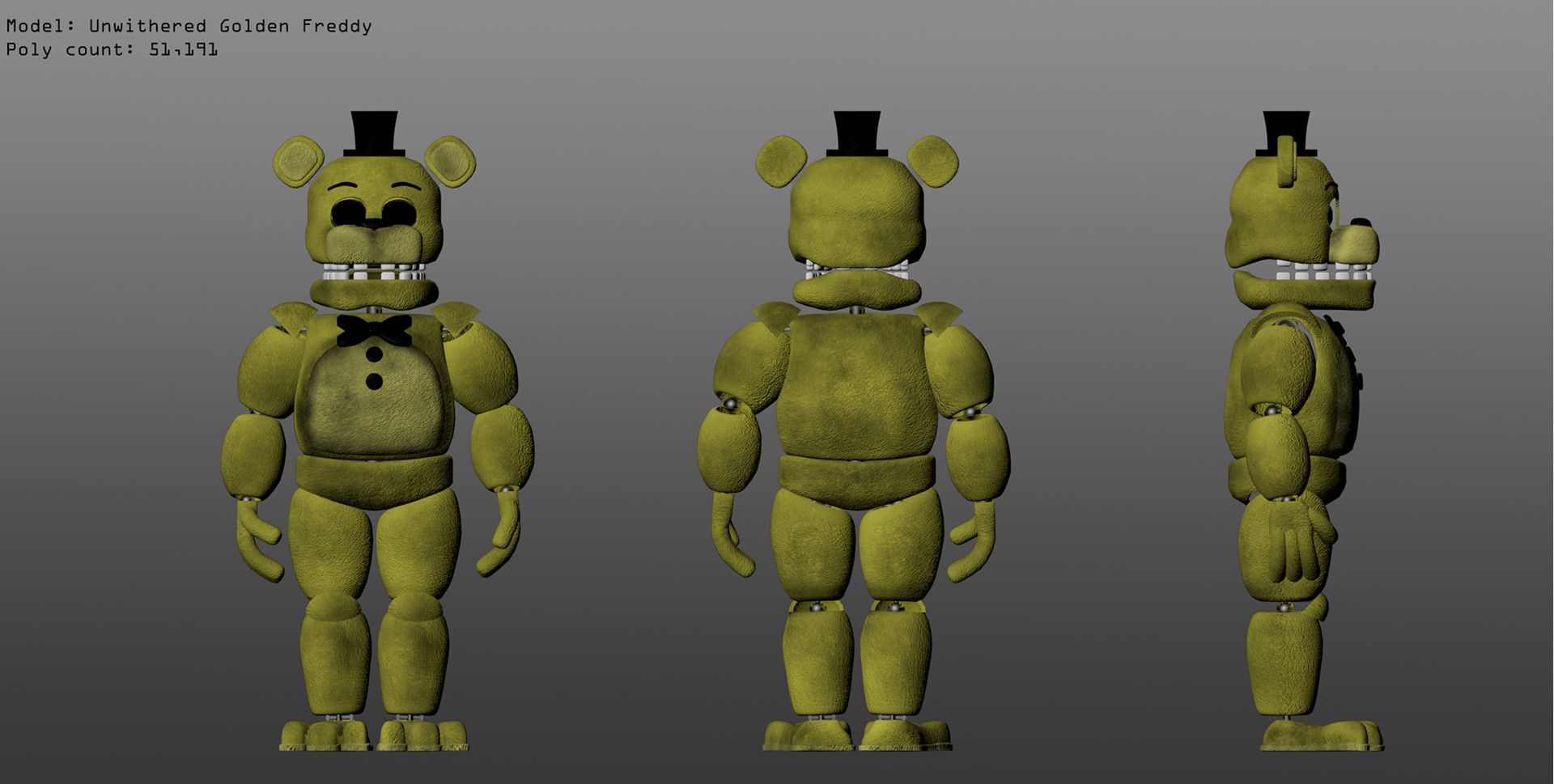 Thomas Honeybell - Five Nights at Freddy's 2 Fan-made Withered 3D Models