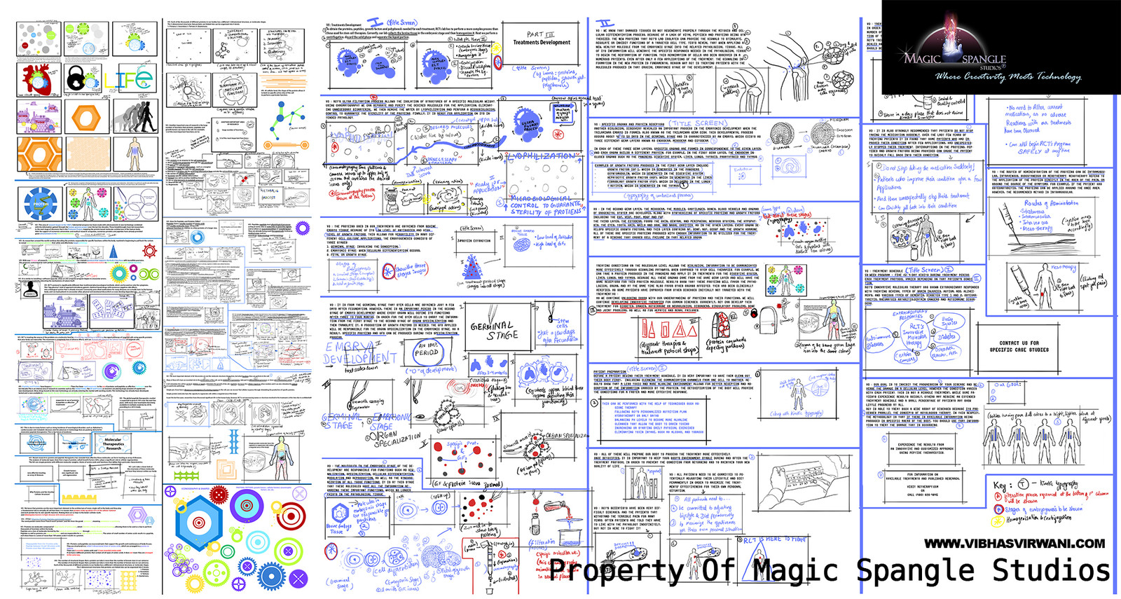 Regenerative cellular therapy storyboard