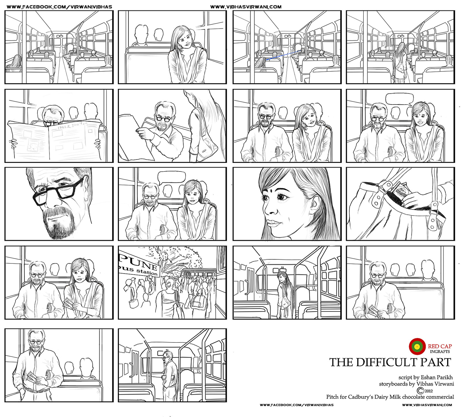 The Difficult part storyboard