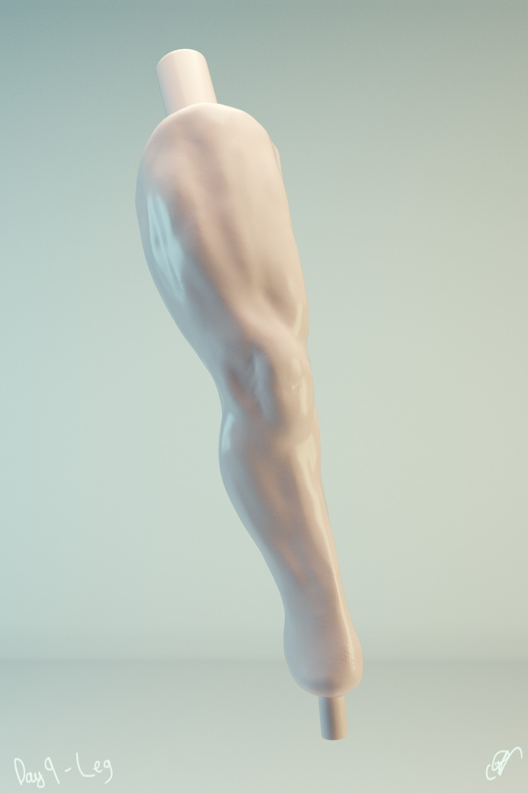 #SculptJanuary Day 9 - Leg
