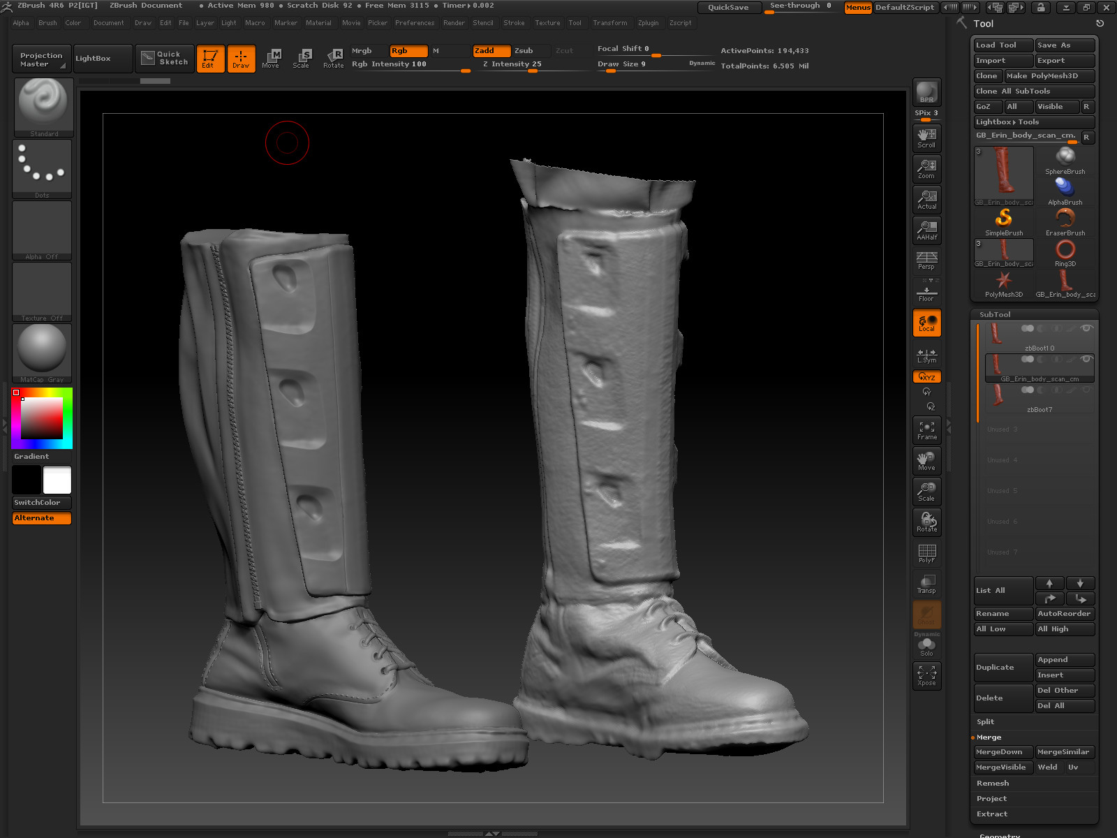 Doug brown bootsculpt