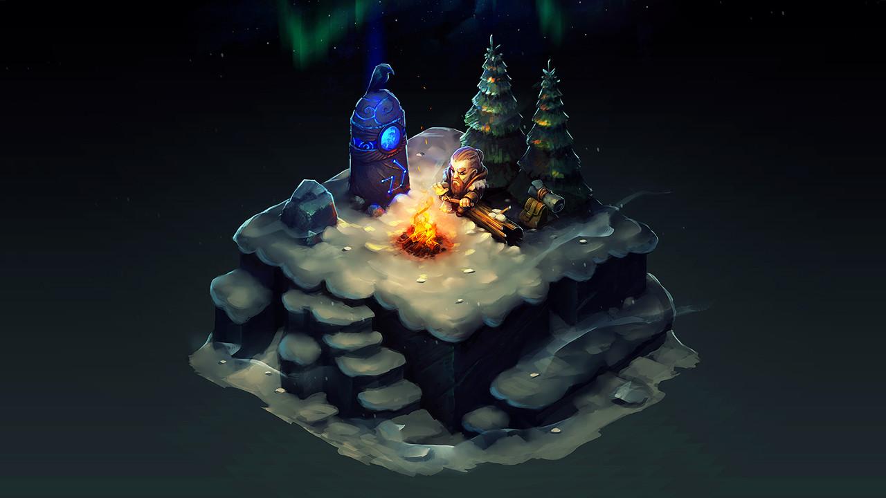 Isometric Winter Night