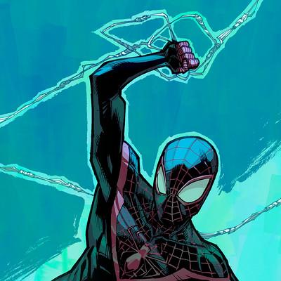 Harrison yinfaowei ultimate spider man inks by joeyvazquez
