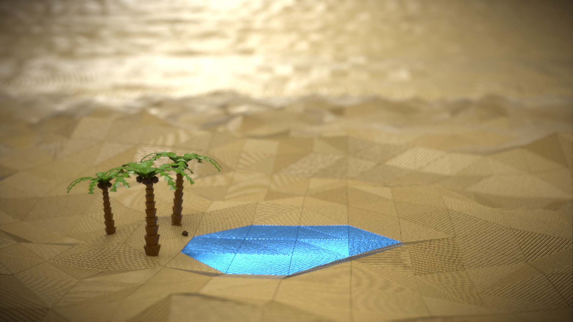 Lars ploger desert low poly