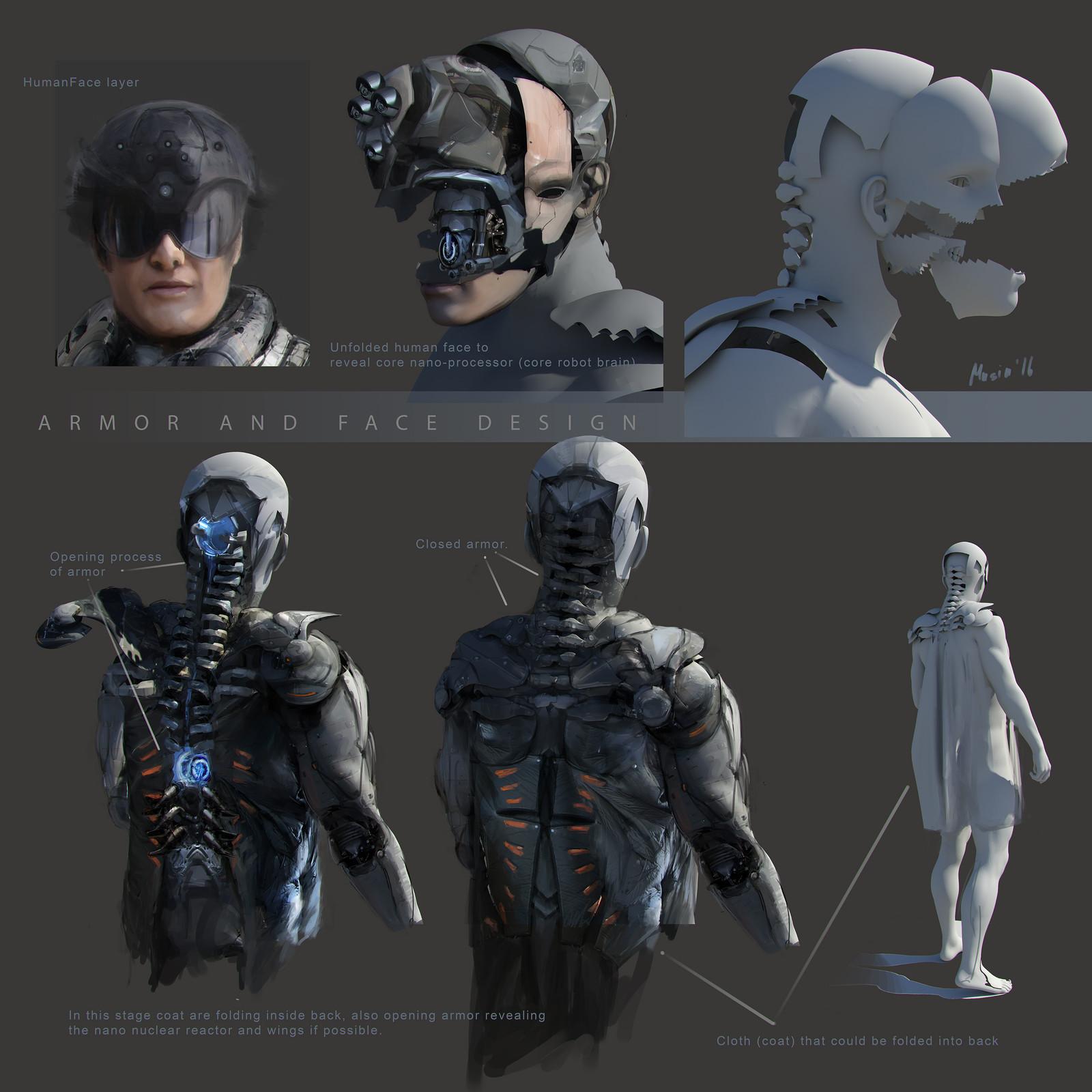 Robot  Parts Concept Sketches