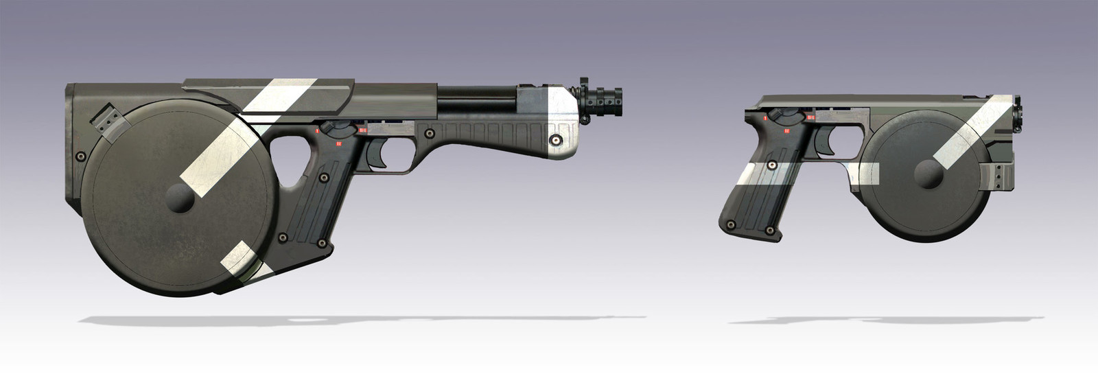 Magnetic accelerator personal defense weapons.  Personal work.
