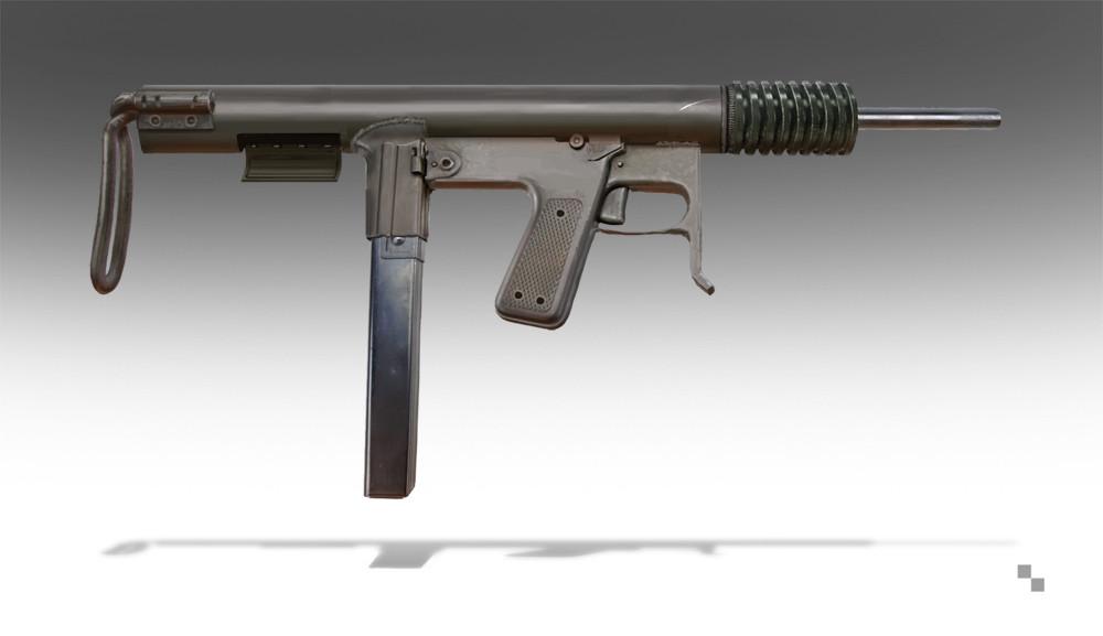 Personal sub-machine gun.  Personal work.