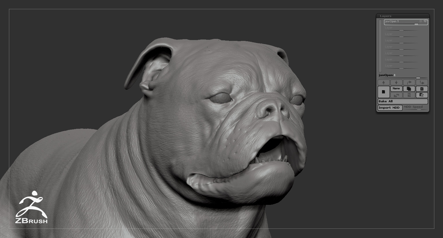 Alex Lashko | 3D Art - English Bulldog Real-Time