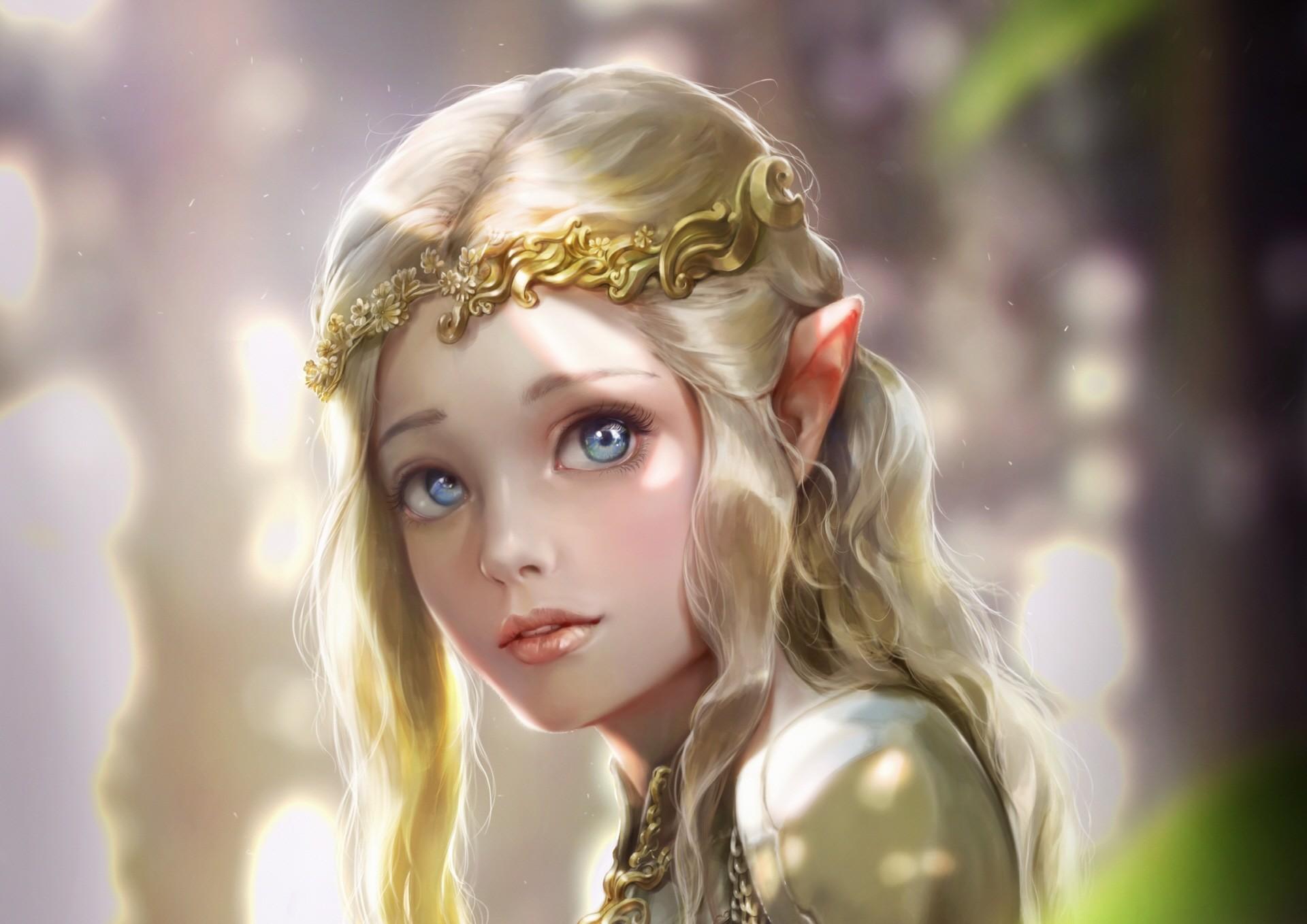 artstation elven princess bluish salt