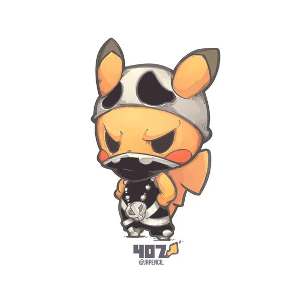 Jr Pencil 407 Team Skull Pikachu