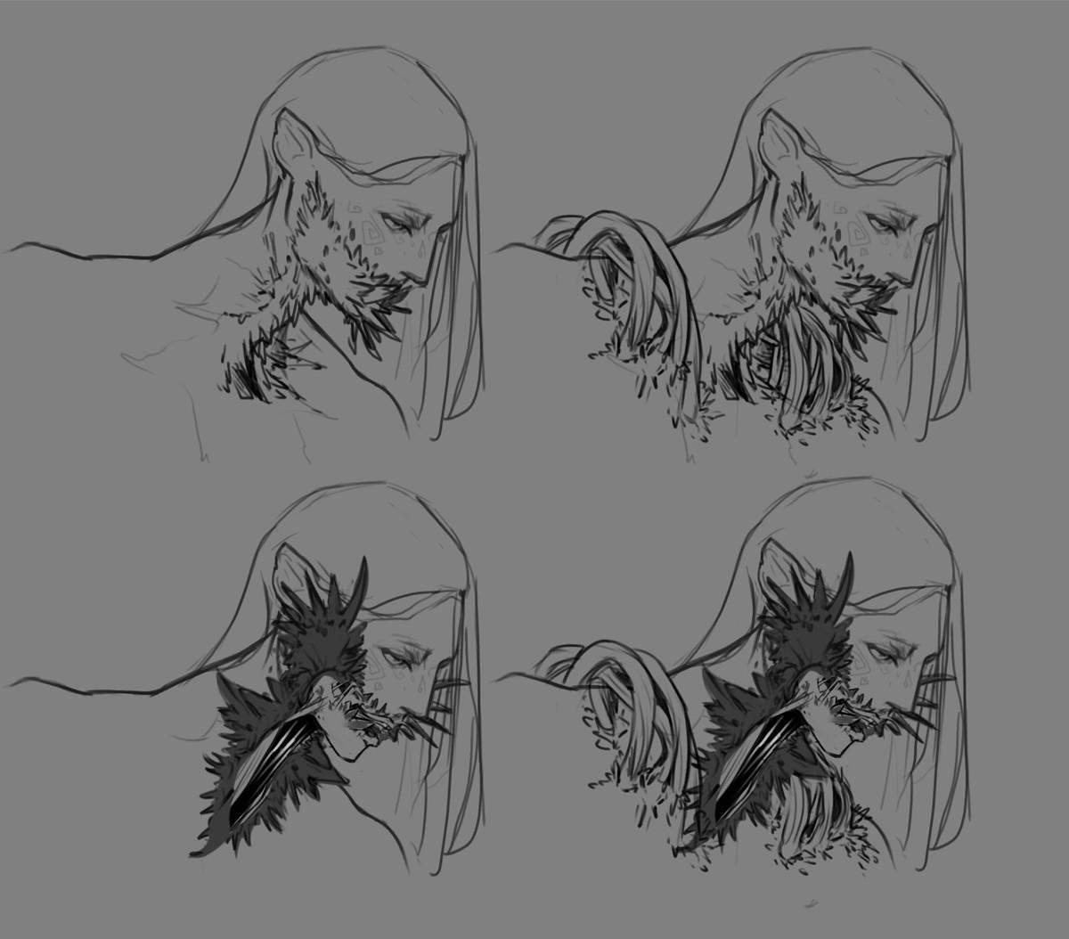 Vlada monakhova concept sketch mouths