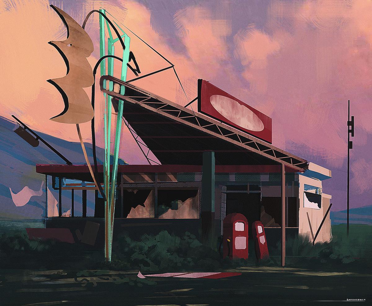 Jorge gonzalez gas station sketch 2