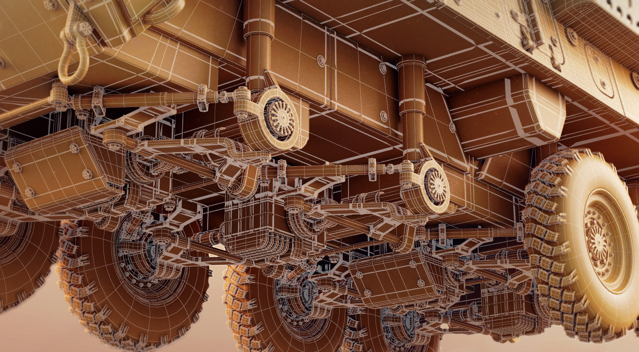 Undercarriage wireframe