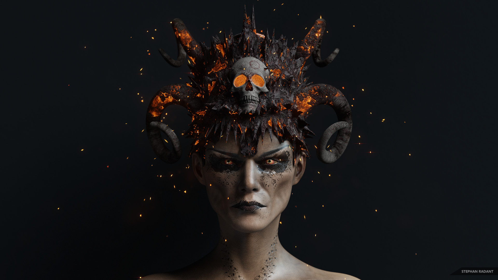 Artstation Dark Queen Headpiece Stephan Radant
