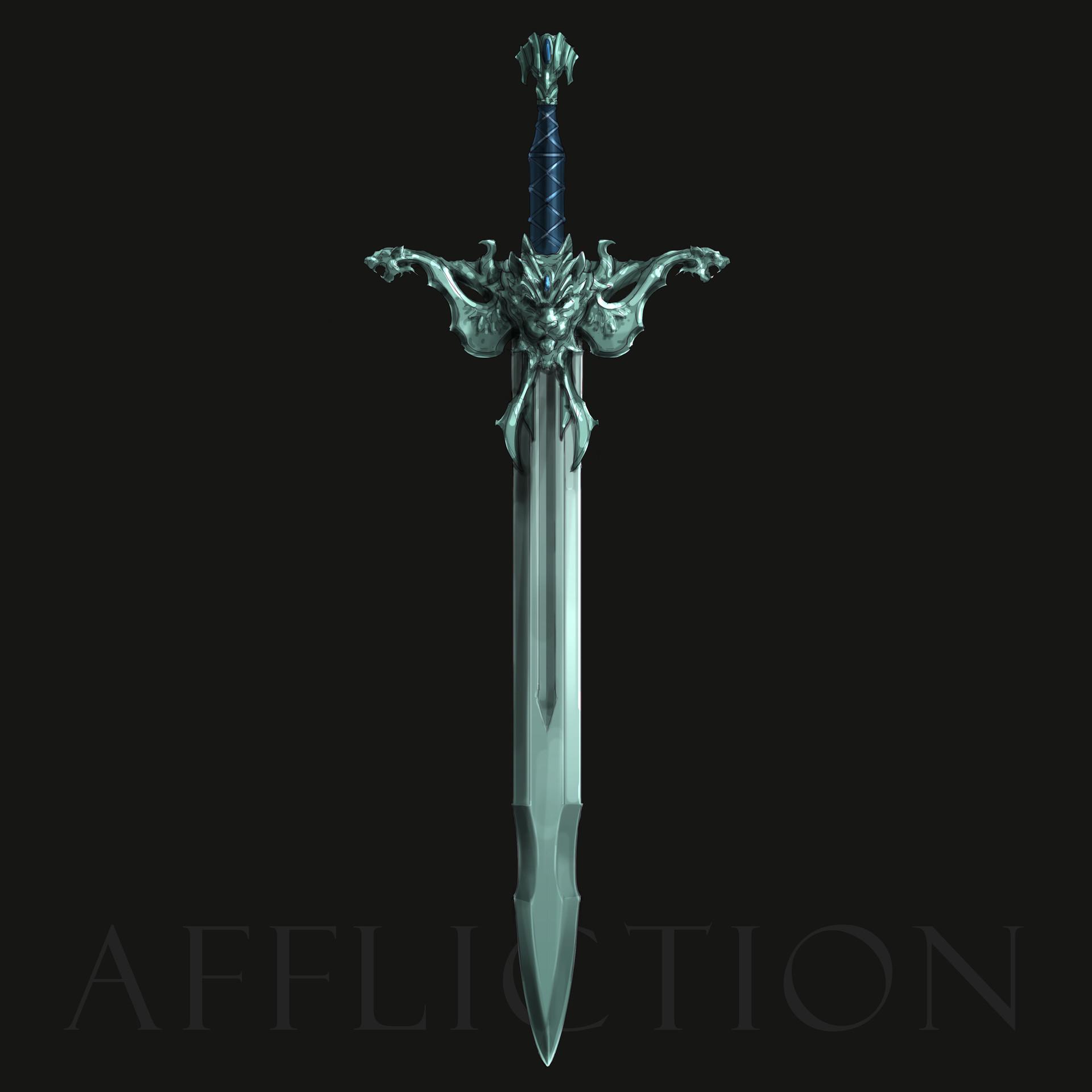 Nathan elmer stylised sword affliction