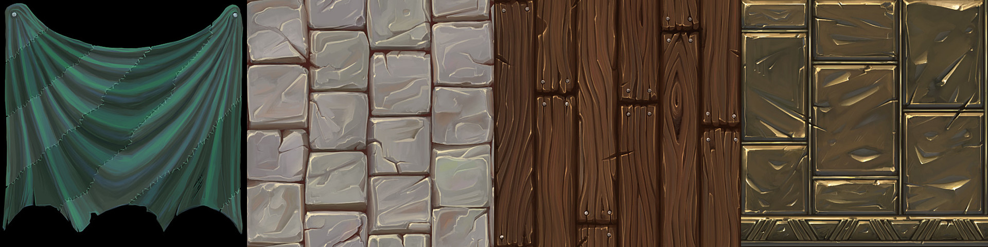 hand painted textures for the 38 studio's art test