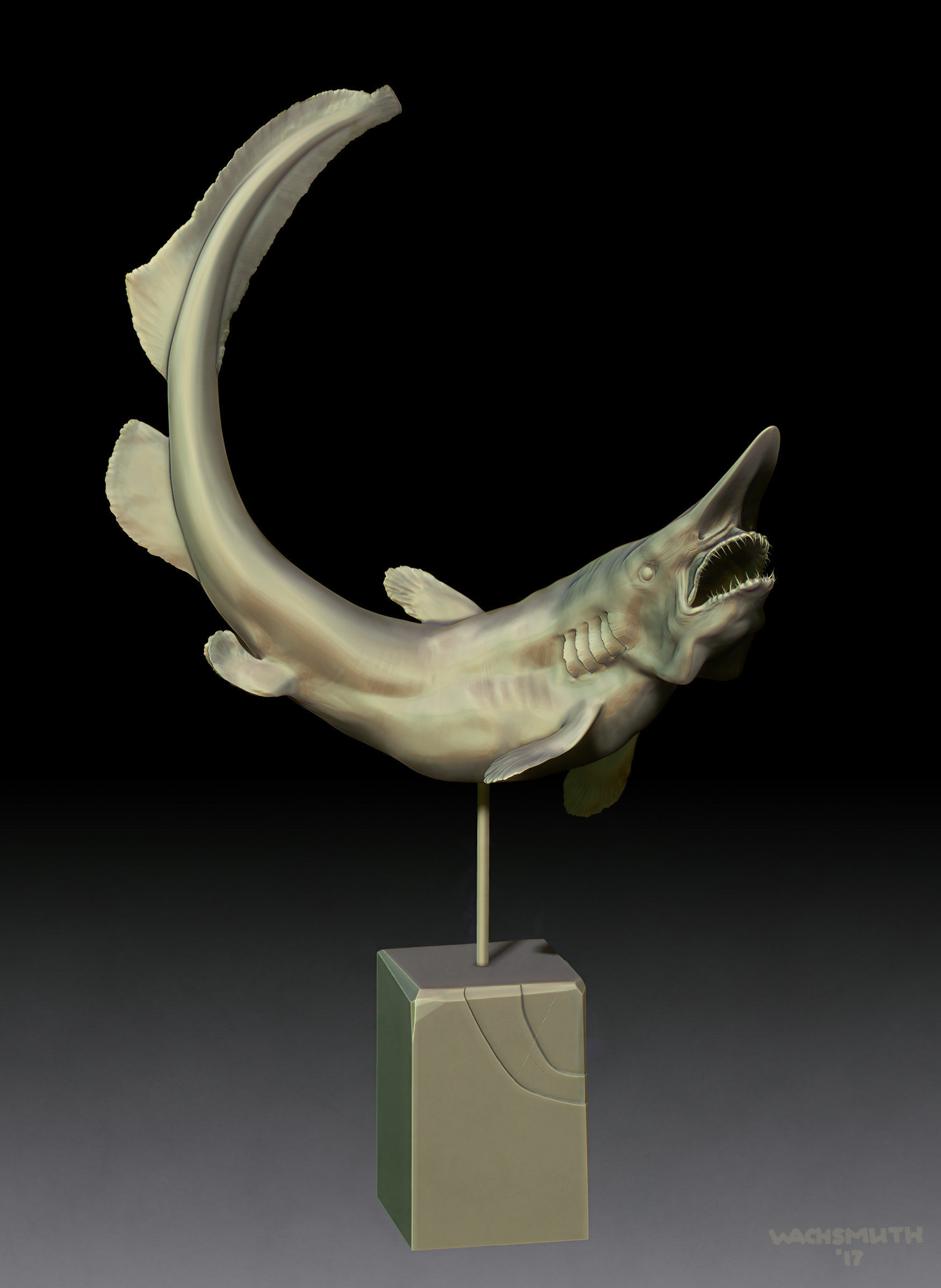 Dirk wachsmuth goblin shark sculpture 01 4web