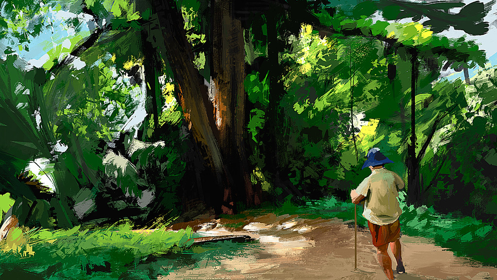 jungle path quick scketch