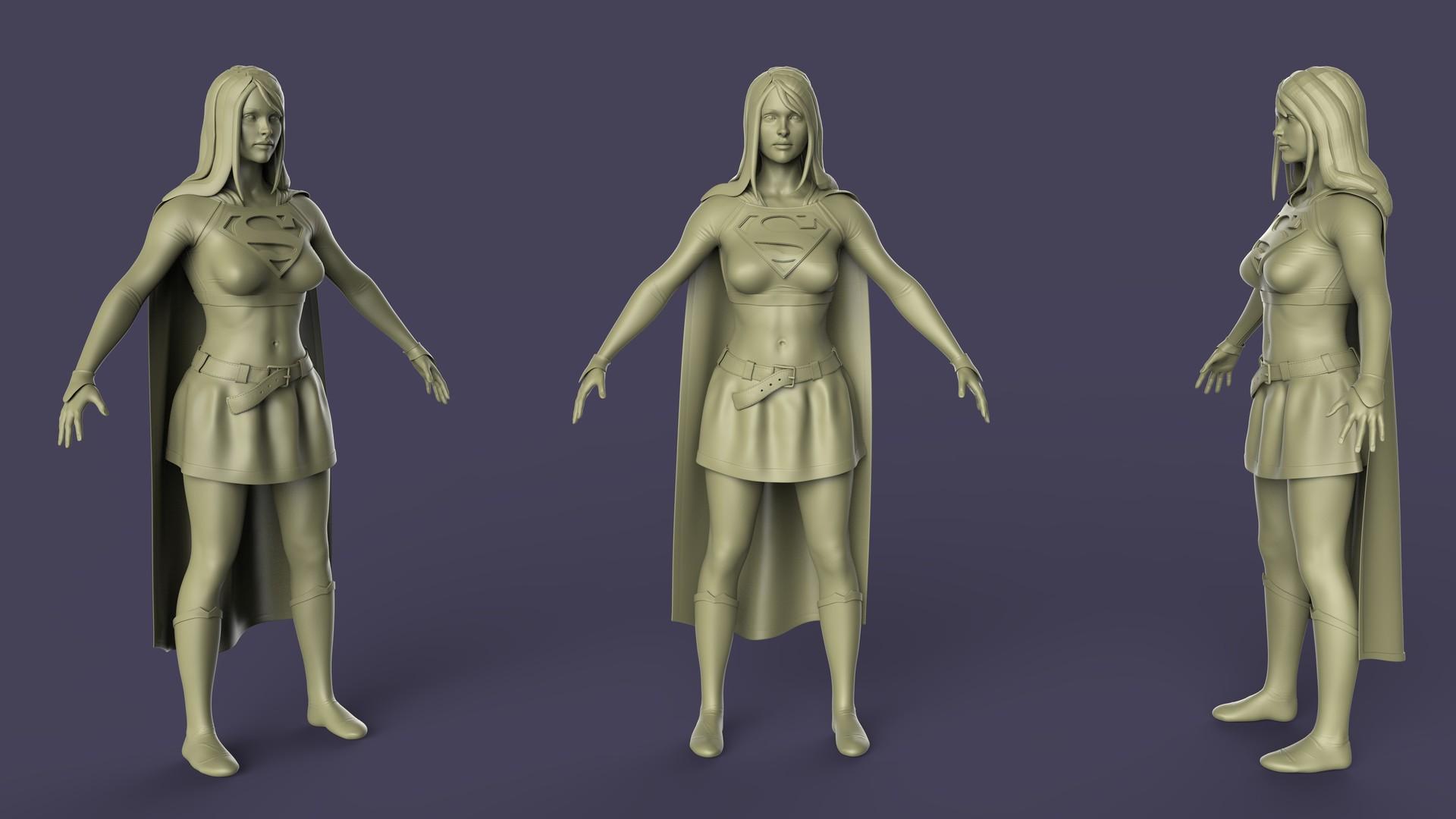 ZBrush high resolution sculpt rendered in Keyshot