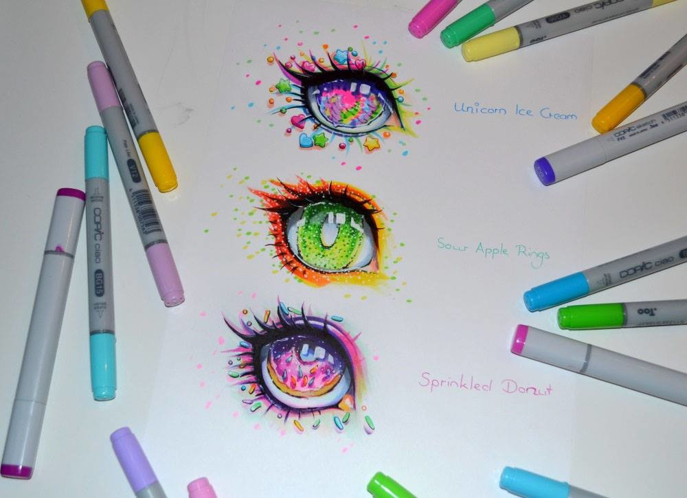 lighane s artblog candy eyes eye tutorial copic marker