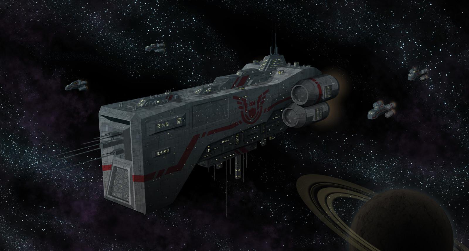 Scifi space scene