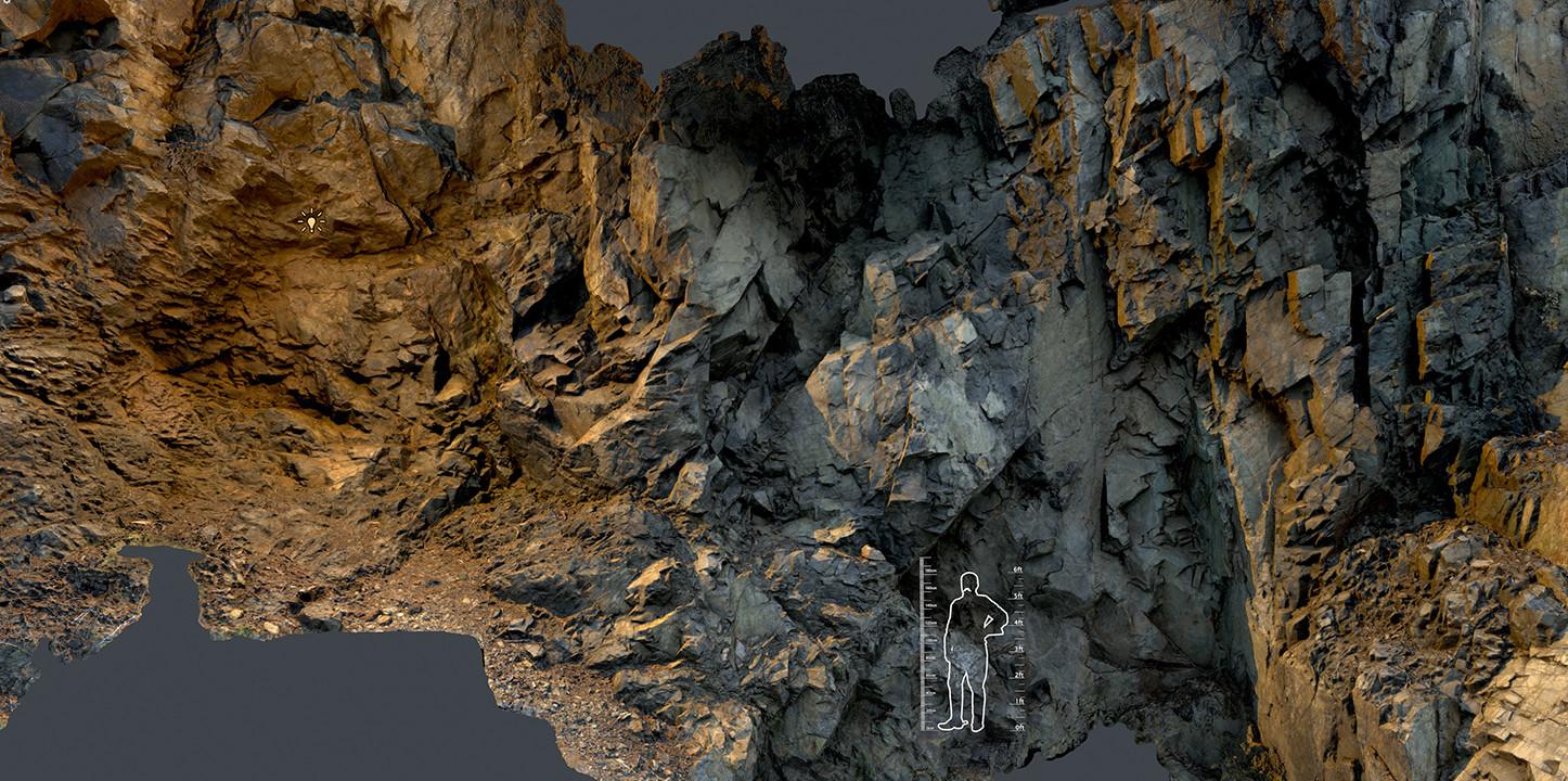 rock wall high res model